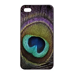 Peacock Feather Apple Iphone 4/4s Seamless Case (black)