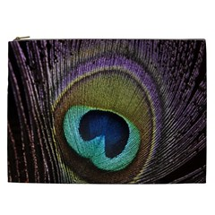 Peacock Feather Cosmetic Bag (xxl)