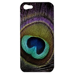 Peacock Feather Apple Iphone 5 Hardshell Case