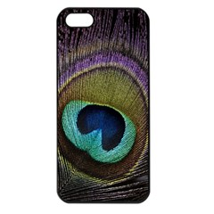Peacock Feather Apple Iphone 5 Seamless Case (black)
