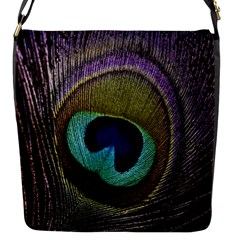 Peacock Feather Flap Messenger Bag (s)