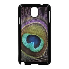 Peacock Feather Samsung Galaxy Note 3 Neo Hardshell Case (black)