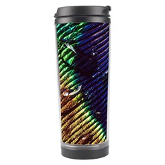 Peacock Feather Retina Mac Travel Tumbler