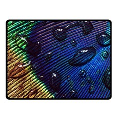 Peacock Feather Retina Mac Double Sided Fleece Blanket (small)