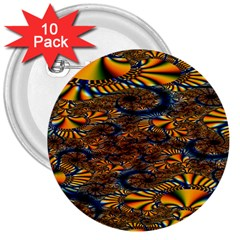 Pattern Bright 3  Buttons (10 Pack)