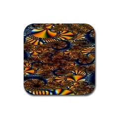 Pattern Bright Rubber Square Coaster (4 Pack)