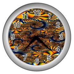 Pattern Bright Wall Clocks (silver)