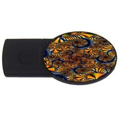 Pattern Bright Usb Flash Drive Oval (2 Gb)