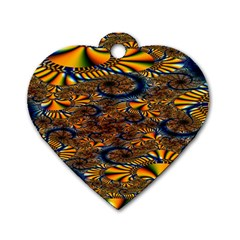 Pattern Bright Dog Tag Heart (two Sides)