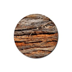 Natural Wood Texture Rubber Coaster (round)