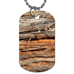 Natural Wood Texture Dog Tag (one Side)