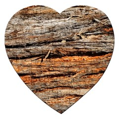 Natural Wood Texture Jigsaw Puzzle (heart)