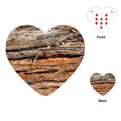 Natural Wood Texture Playing Cards (heart)