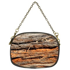 Natural Wood Texture Chain Purses (two Sides)