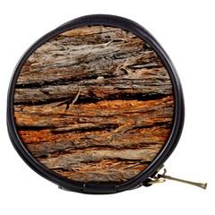 Natural Wood Texture Mini Makeup Bags