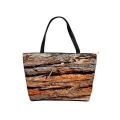 Natural Wood Texture Shoulder Handbags