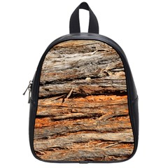 Natural Wood Texture School Bags (small)