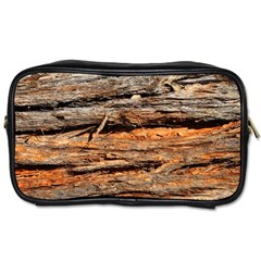 Natural Wood Texture Toiletries Bags 2 Side