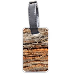 Natural Wood Texture Luggage Tags (one Side)
