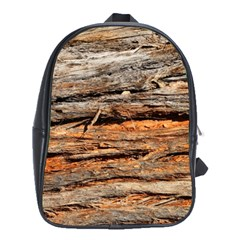 Natural Wood Texture School Bags (xl)