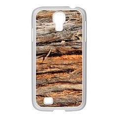 Natural Wood Texture Samsung Galaxy S4 I9500/ I9505 Case (white)