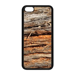 Natural Wood Texture Apple Iphone 5c Seamless Case (black)