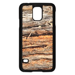 Natural Wood Texture Samsung Galaxy S5 Case (black)