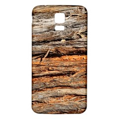 Natural Wood Texture Samsung Galaxy S5 Back Case (white)
