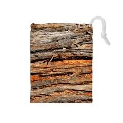 Natural Wood Texture Drawstring Pouches (medium)