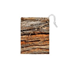 Natural Wood Texture Drawstring Pouches (xs)