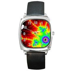 Misc Fractals Square Metal Watch