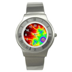 Misc Fractals Stainless Steel Watch