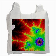 Misc Fractals Recycle Bag (one Side)