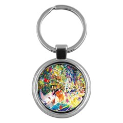 Multicolor Anime Colors Colorful Key Chains (round)