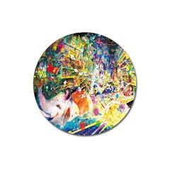 Multicolor Anime Colors Colorful Magnet 3  (round)