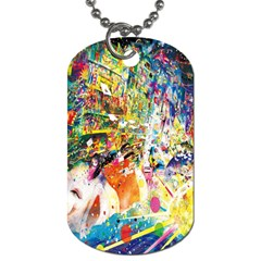 Multicolor Anime Colors Colorful Dog Tag (two Sides)