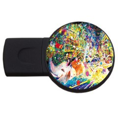 Multicolor Anime Colors Colorful Usb Flash Drive Round (2 Gb)
