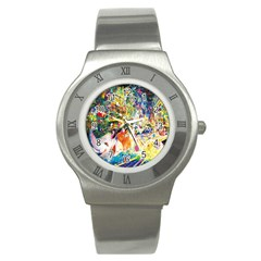 Multicolor Anime Colors Colorful Stainless Steel Watch