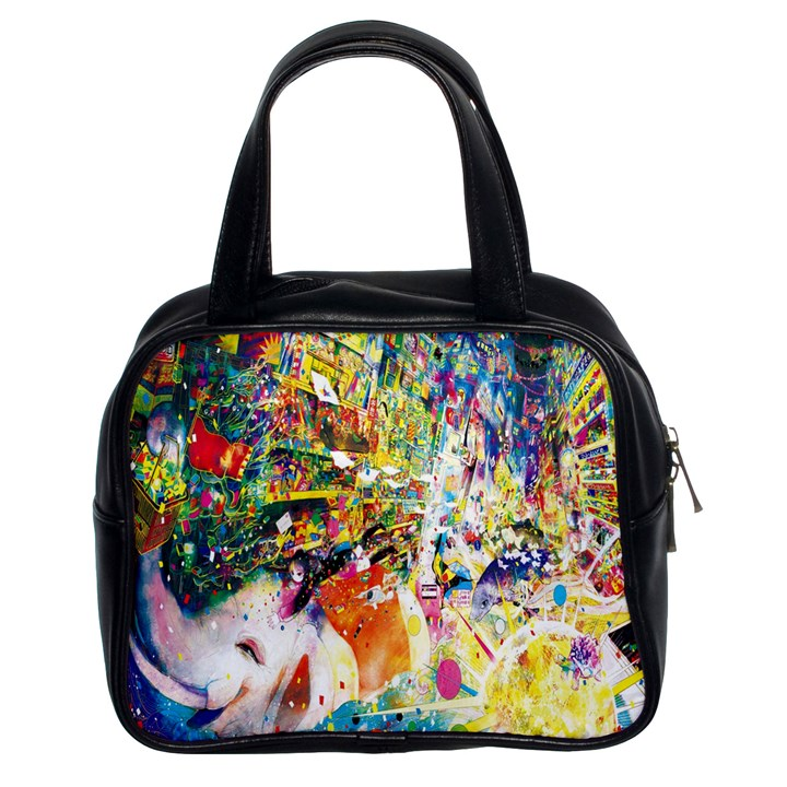 Multicolor Anime Colors Colorful Classic Handbags (2 Sides)