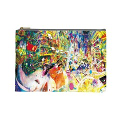 Multicolor Anime Colors Colorful Cosmetic Bag (large)