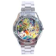 Multicolor Anime Colors Colorful Stainless Steel Analogue Watch