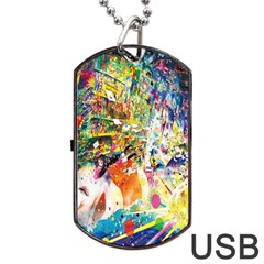 Multicolor Anime Colors Colorful Dog Tag Usb Flash (one Side)