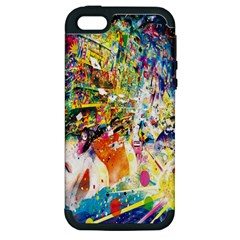 Multicolor Anime Colors Colorful Apple Iphone 5 Hardshell Case (pc+silicone)