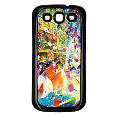 Multicolor Anime Colors Colorful Samsung Galaxy S3 Back Case (black)
