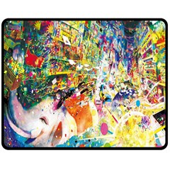 Multicolor Anime Colors Colorful Double Sided Fleece Blanket (medium)