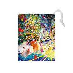 Multicolor Anime Colors Colorful Drawstring Pouches (medium)