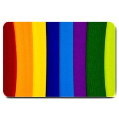 Paper Rainbow Colorful Colors Large Doormat
