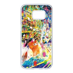 Multicolor Anime Colors Colorful Samsung Galaxy S7 Edge White Seamless Case