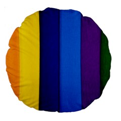 Paper Rainbow Colorful Colors Large 18  Premium Round Cushions