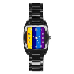 Paper Rainbow Colorful Colors Stainless Steel Barrel Watch